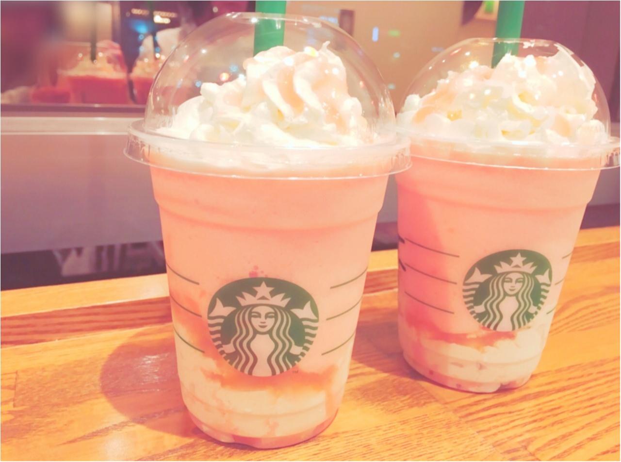 ピンクがおいしい&かわいい♡スタバの新作フラペチーノ♡_3