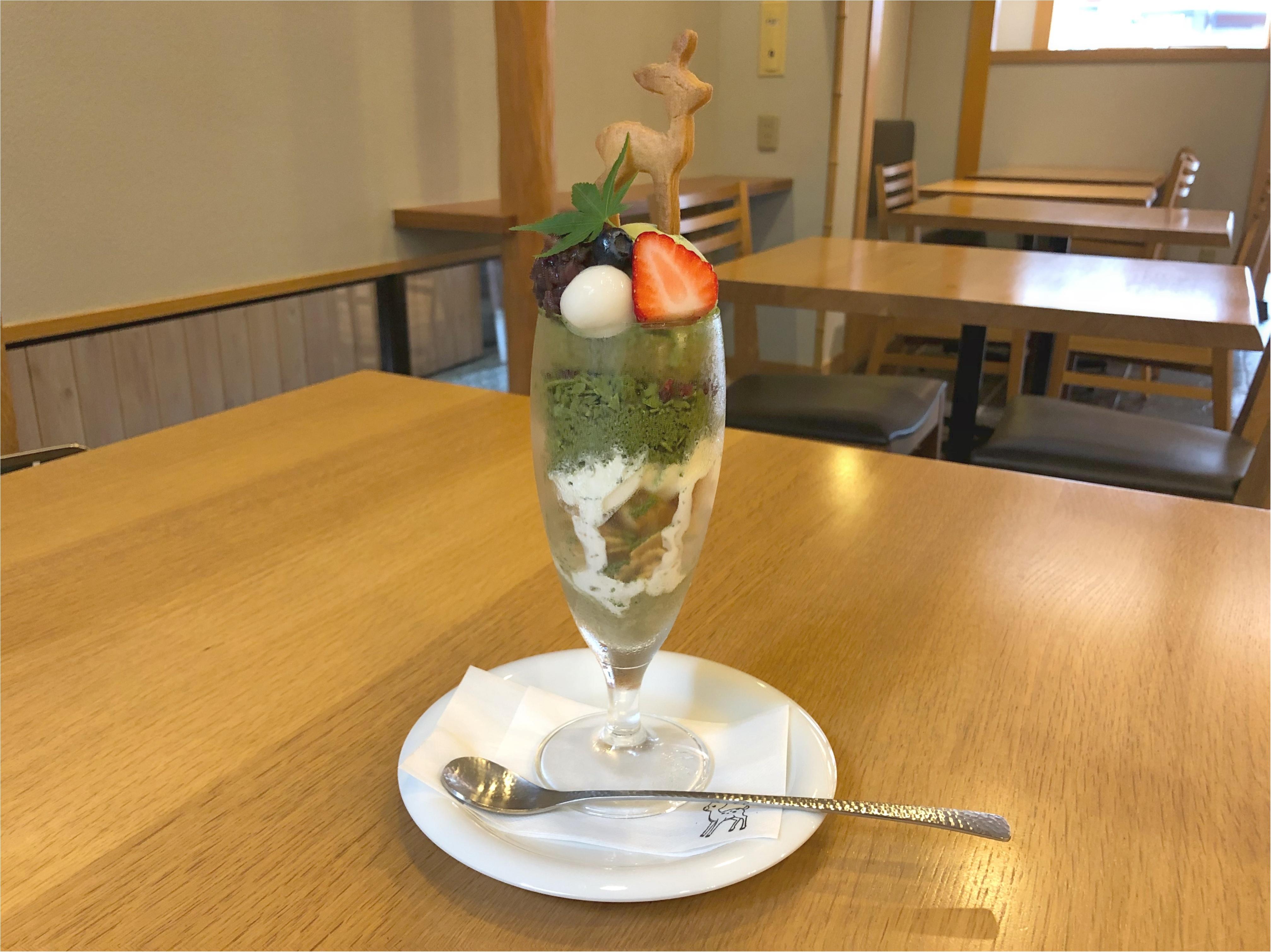 宮島のおすすめスイーツ♡ 濃厚な抹茶と季節のいちごパフェ ♡♡_2