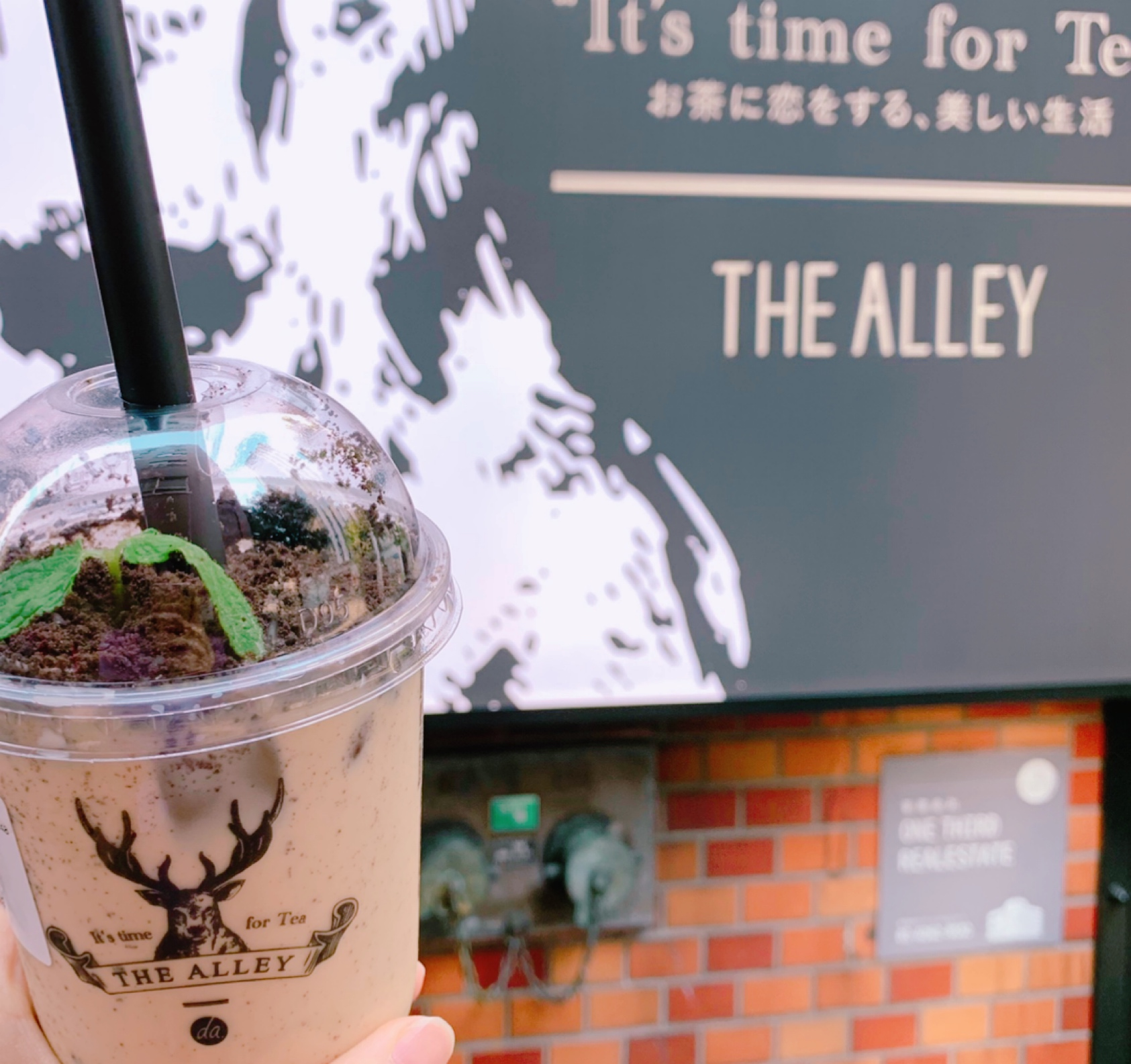 《写真映え❤️》【THE ALLEY(ジアレイ)】の盆栽タピオカミルクティーがおいしい☻_1