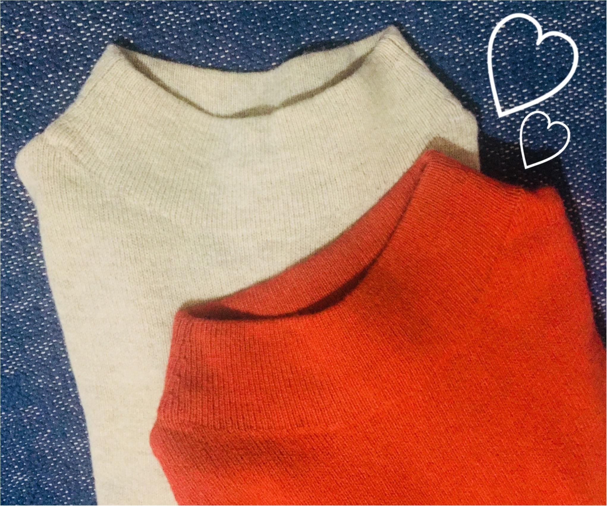 【UNIQLO de お買い物❤︎】寒い冬の気分を上げる!形がキレイ&明るい色のニットを買い足しました✌︎_1