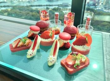 1000記事更新達成!コンラッド東京のいちごアフタヌーンティーでお祝い♡
