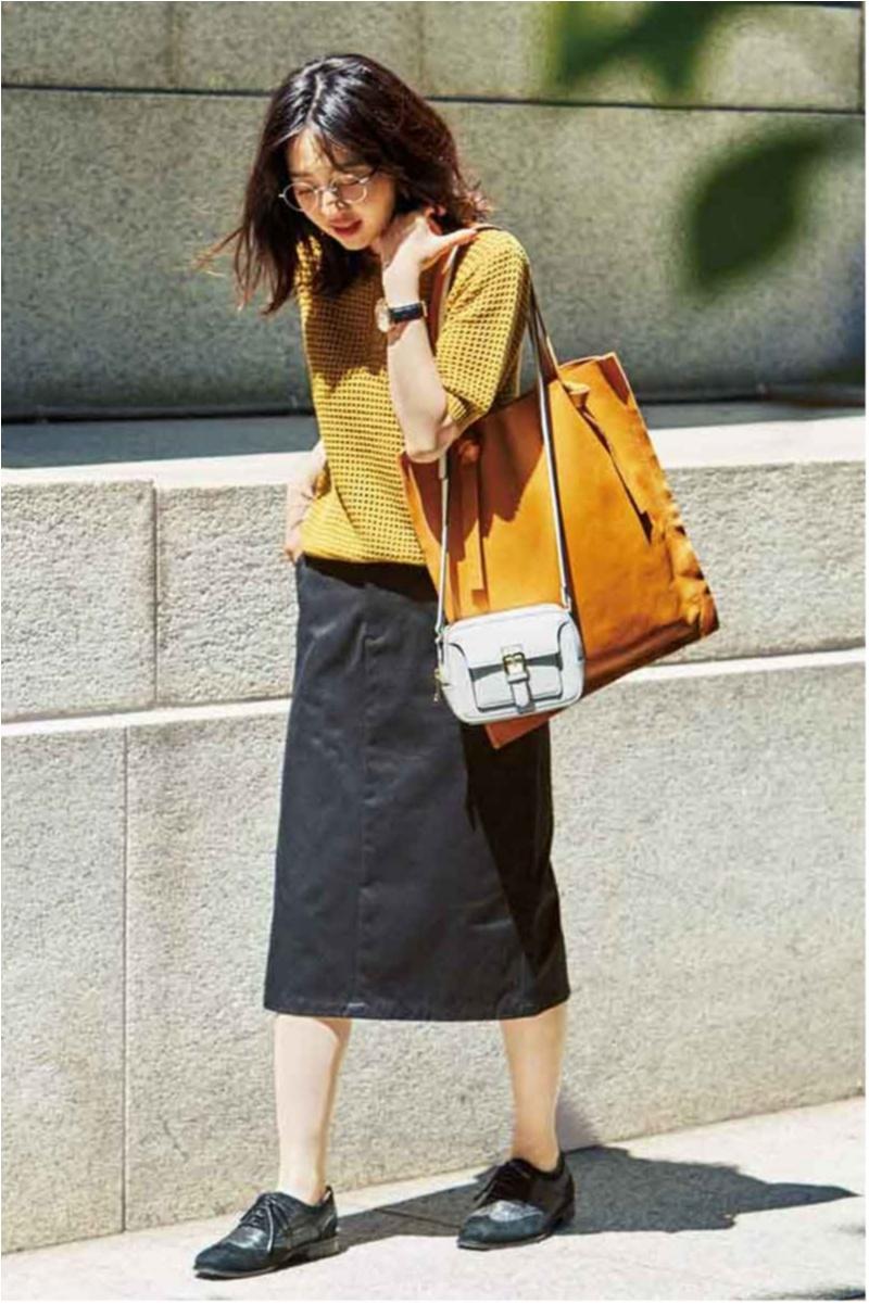 フラット靴派のお仕事バッグは【ミニショルダー+フラットトート】のセット使いが好バランス!_2_1
