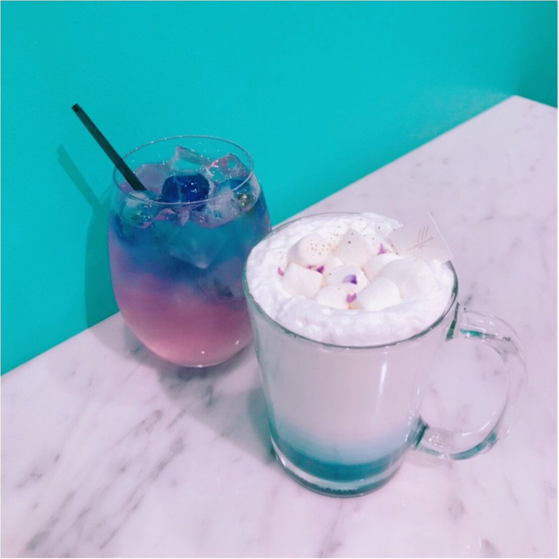 ★ブルー→パープルの変化系ドリンクがあるお店♡大好きな水色がたくさん!『CAMPANELLA CAFE』へ行ってきました★_5