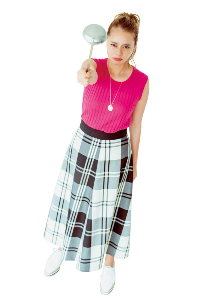 女子に「おしゃれ!」って思われる服を、岸本セシルが着まわし♡_3_3