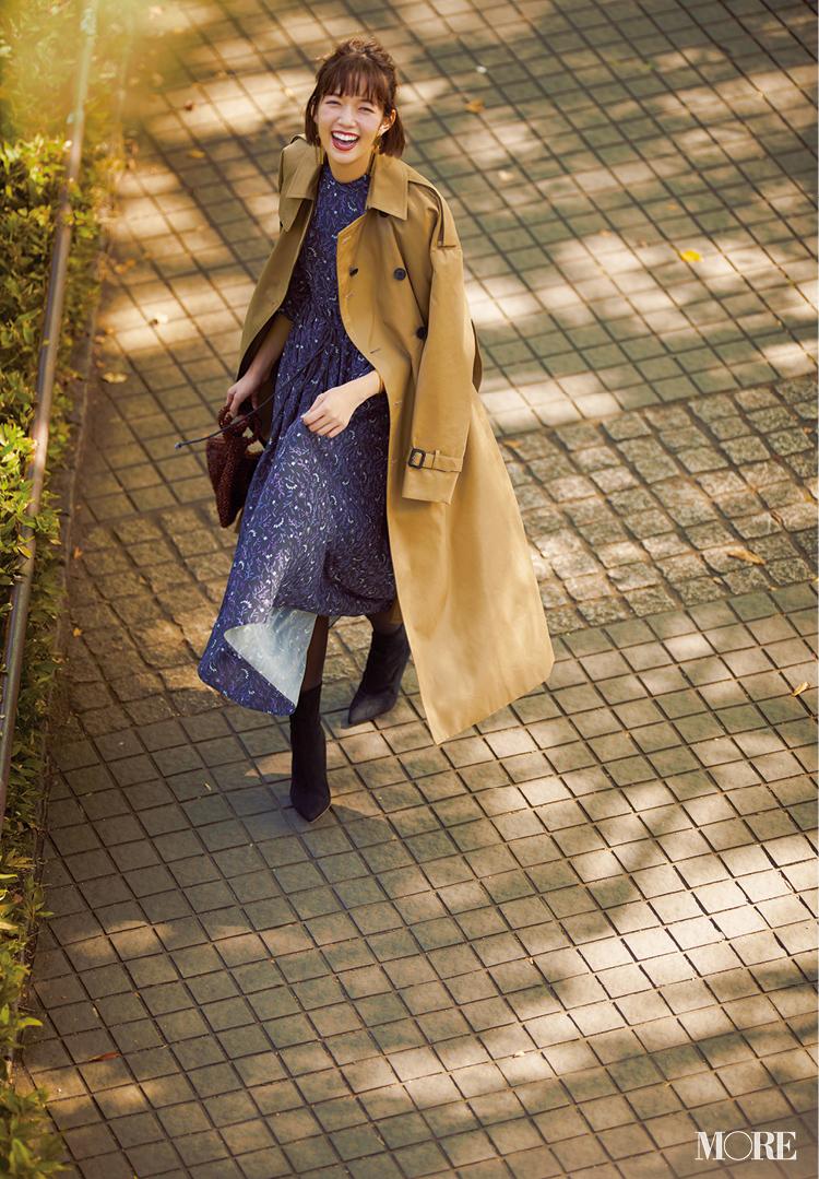 佐藤栞里&土屋巴瑞季がお手本! 12月はワンピース&ワンピ見えセットアップでおしゃれに乗り切ろう_2