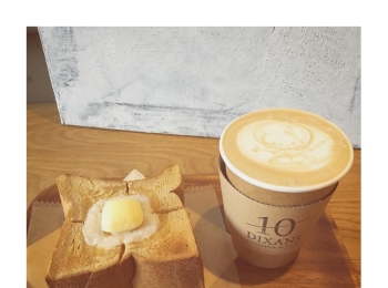 #12【#cafestagram】❤️:《東京•水道橋》ふわふわ絶品!厚切りトーストと可愛いラテアートが人気のカフェ「DIXANS」☻