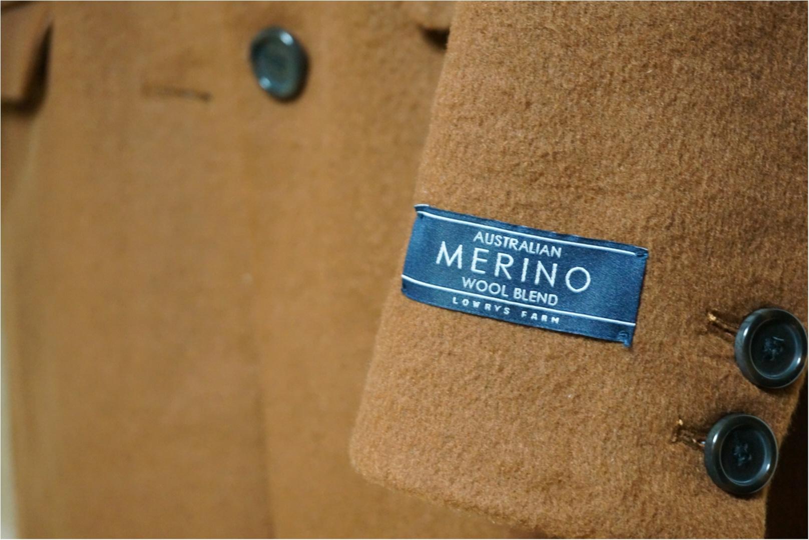 《1つは持っていたい!定番チェスターコート✨》メリノウール使用で暖かい‼スタイリッシュに着れるチェスターコートを最終SALEで半額でGET♪_2