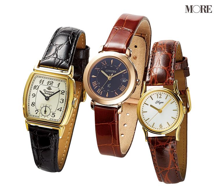 革ベルトの腕時計なら、アクセに似合う、引き立て合う! 「先輩見え」ウォッチで気持ちを上げて_4
