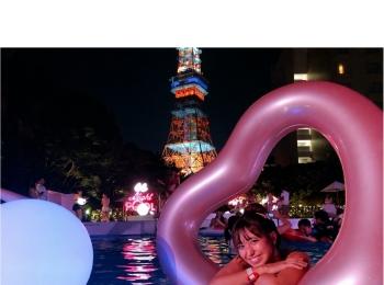 インスタ映え間違いなし‼︎【ナイトプール】in東京プリンス 〜映える写真の撮り方教えます♪〜