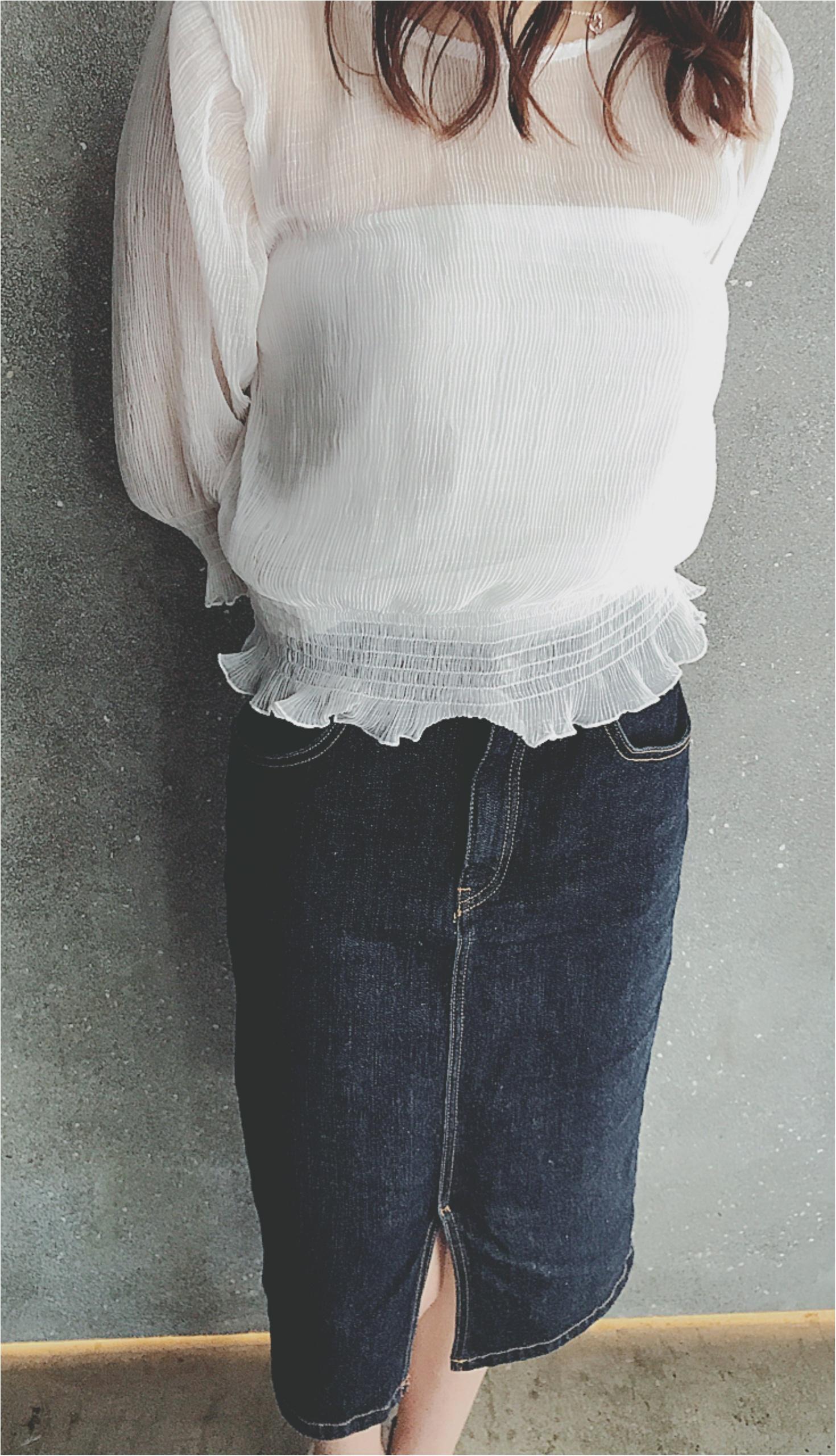 ★夏はモチロン!春から秋まで、長ーく使える『デニムスカート』私のお気に入りポイントはココ★_2
