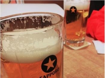 離陸前に《銀座ライオン》で【1リットルビール】ご馳走さまでした!!!