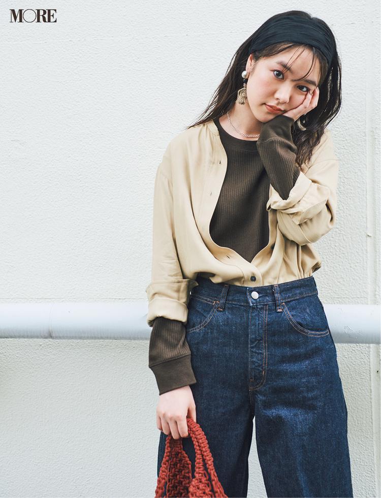秋コーデ特集《2019年版》- トレンドのブラウンや人気のワンピース・スカートでつくる、20代におすすめのレディースコーデ_20