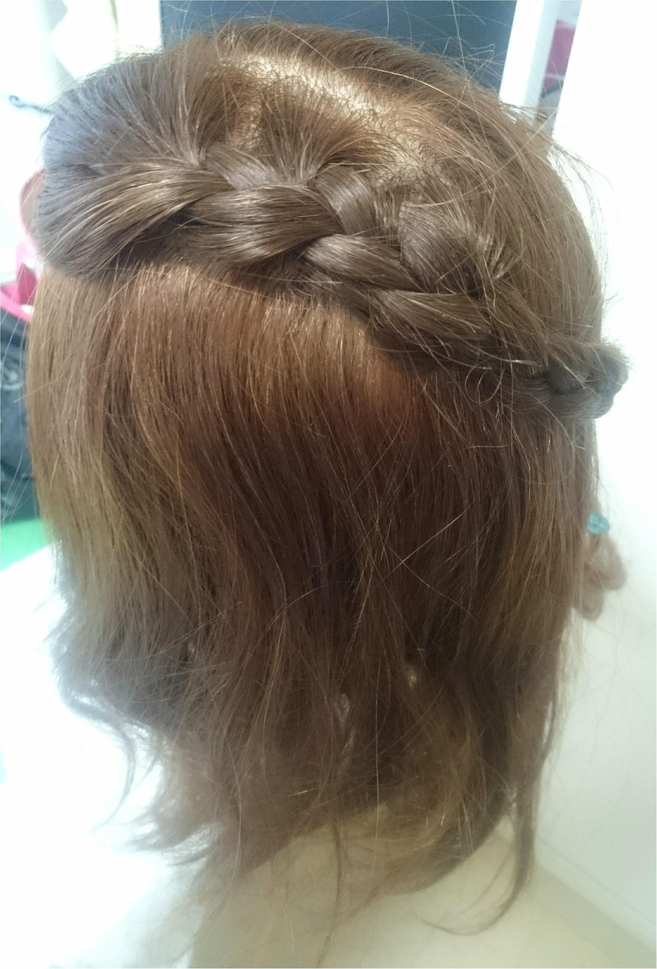 編み込みをうまくできるようになりたくてヘアアレンジレッスンに行ってきました!_2