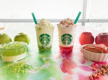 【スタバ 新作レポ】りんごのおいしさを楽しむ2つの新作フラペチーノ♡ グリーンとピンク、それぞれどんな味?
