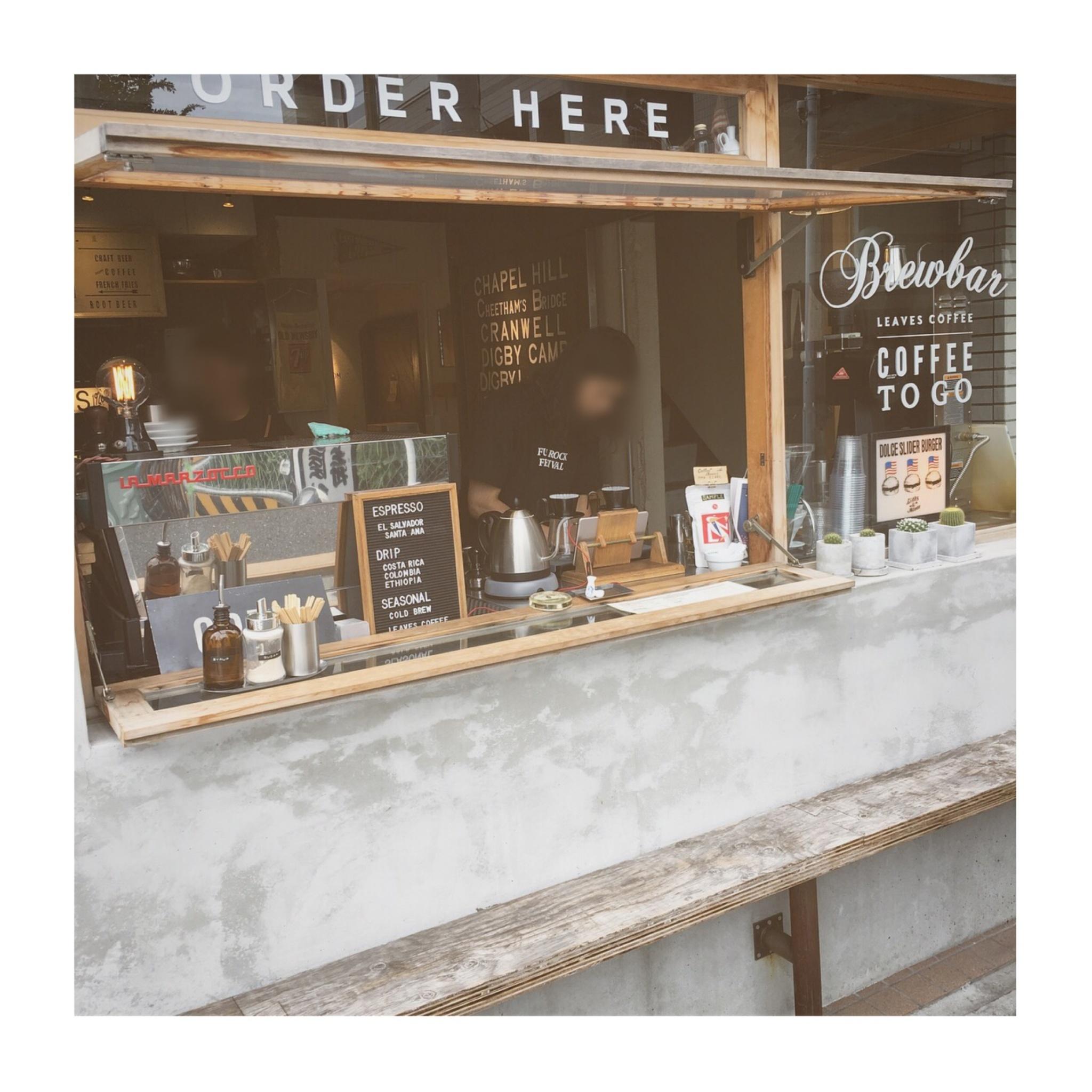 """《ご当地MORE✩東京》【蔵前】で寄りたい!本格的でお洒落なコーヒースタンド""""LEAVES COFFEE APARTMENT""""に行ってきました✌︎❤️_3"""
