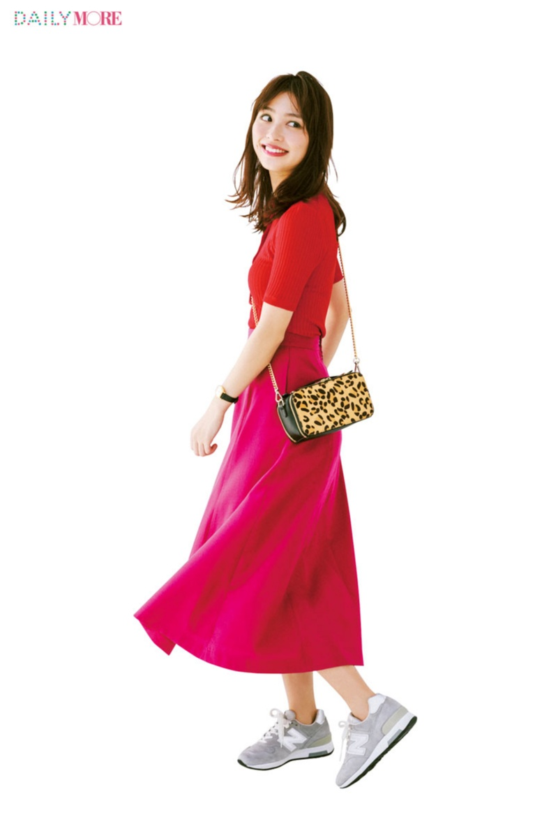 旬のきれい色×きれい色コーデ。【赤×ピンク】と【イエロー×グリーン】この組み合わせが最強説!!!_1_1