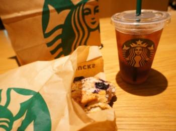 《レジ横foodに注目❤️》【スタバ】アメリカンスコーン ブルーベリーが美味しい☻!