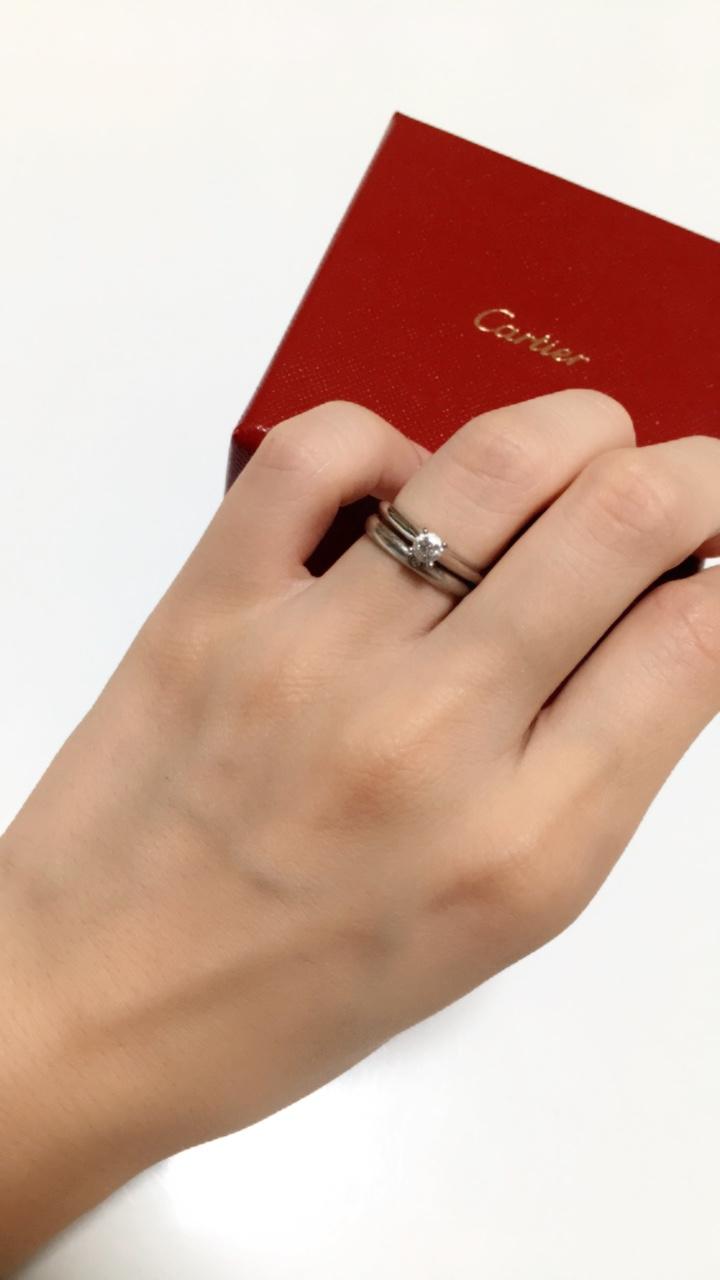 《Cartier カルティエ》エンゲージリングとマリッジリング♡_3