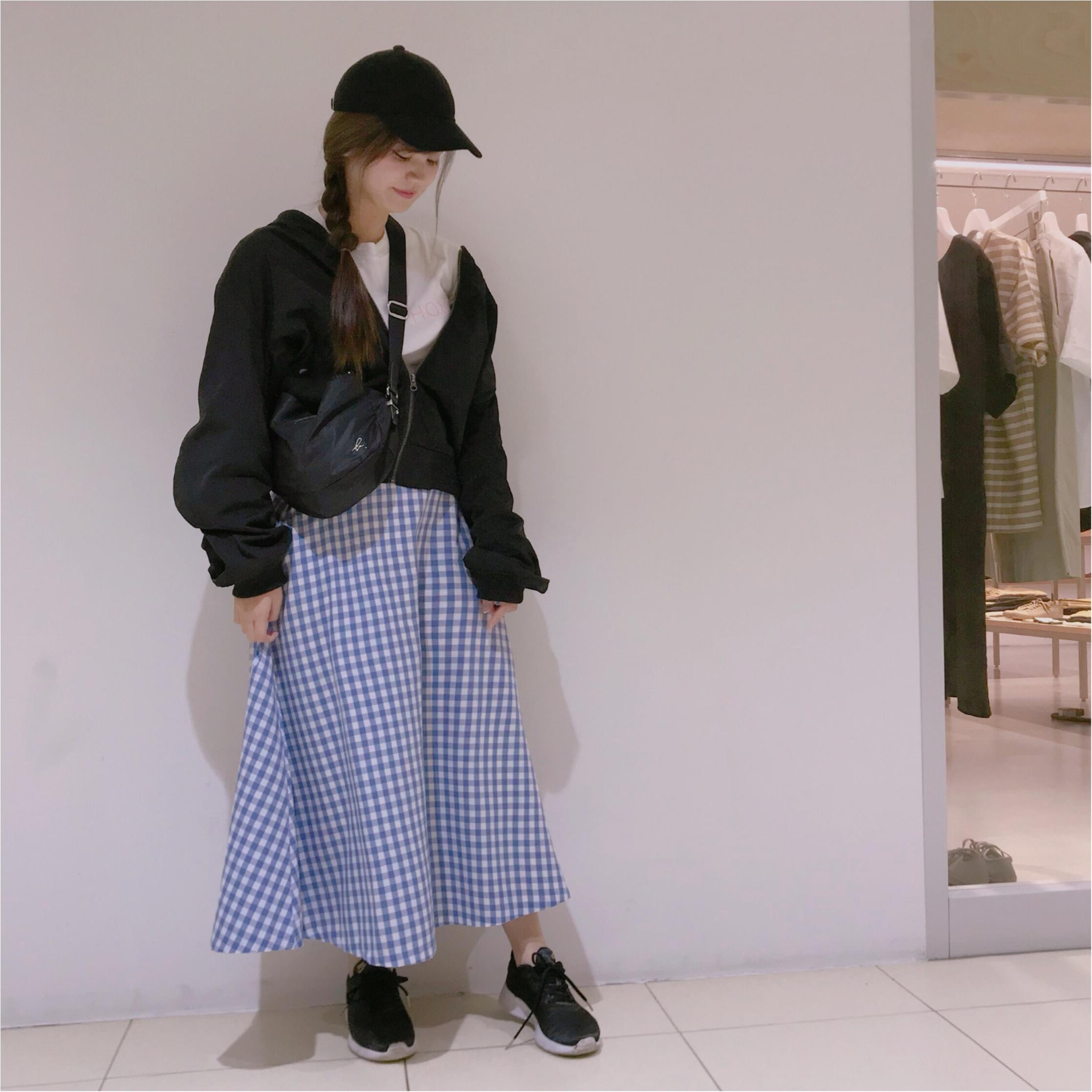 【GU】のギンガムチェックが可愛すぎる❤︎プチプラに見えないフレアスカートを購入しました!_1