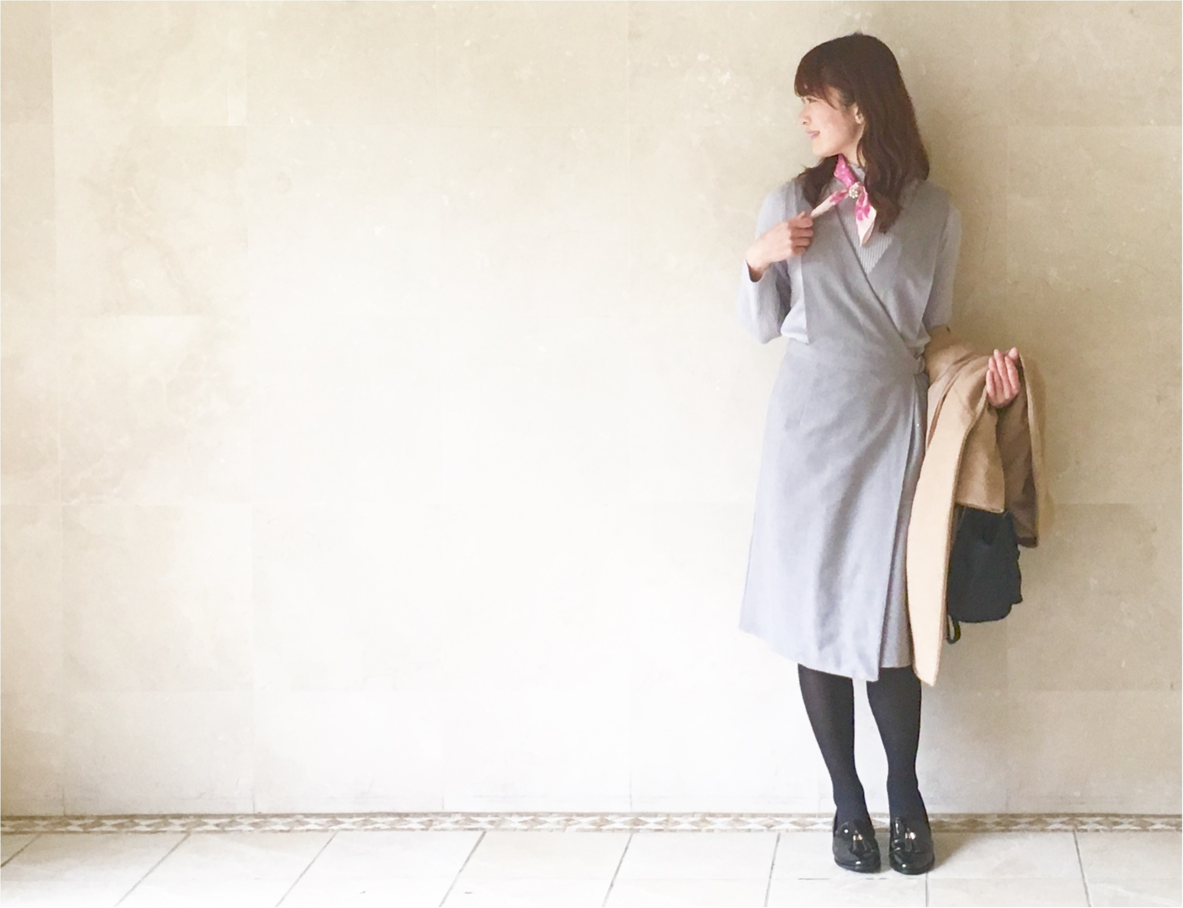 肌寒い日にもぴったり❤️これ1つでこなれ感アップの《スカーフアレンジ》_4