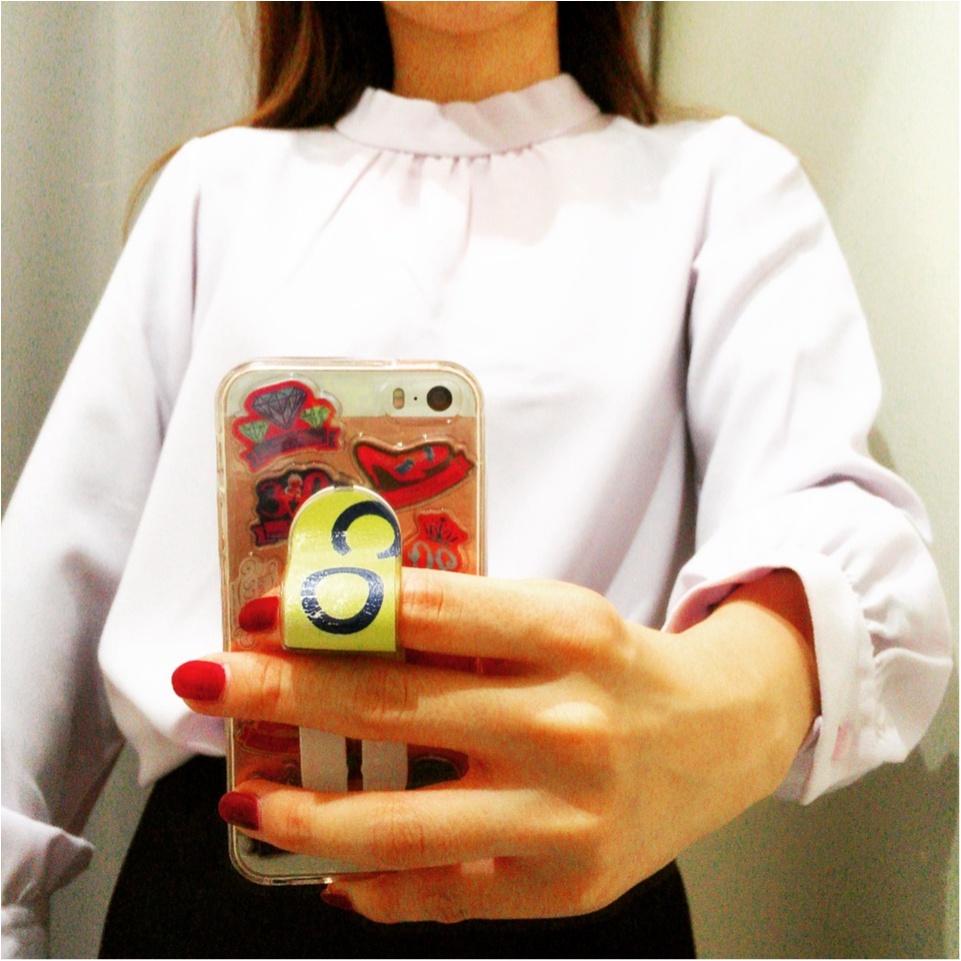 ひさびさの2色買い!♡⦅GU⦆スタンドカラーブラウスがキレイ色&美人見えする♡_3