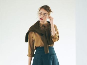 【今日のコーデ】ユニクロコーデ。主役級フレアスカートをパリのおしゃれスナップみたいに♡