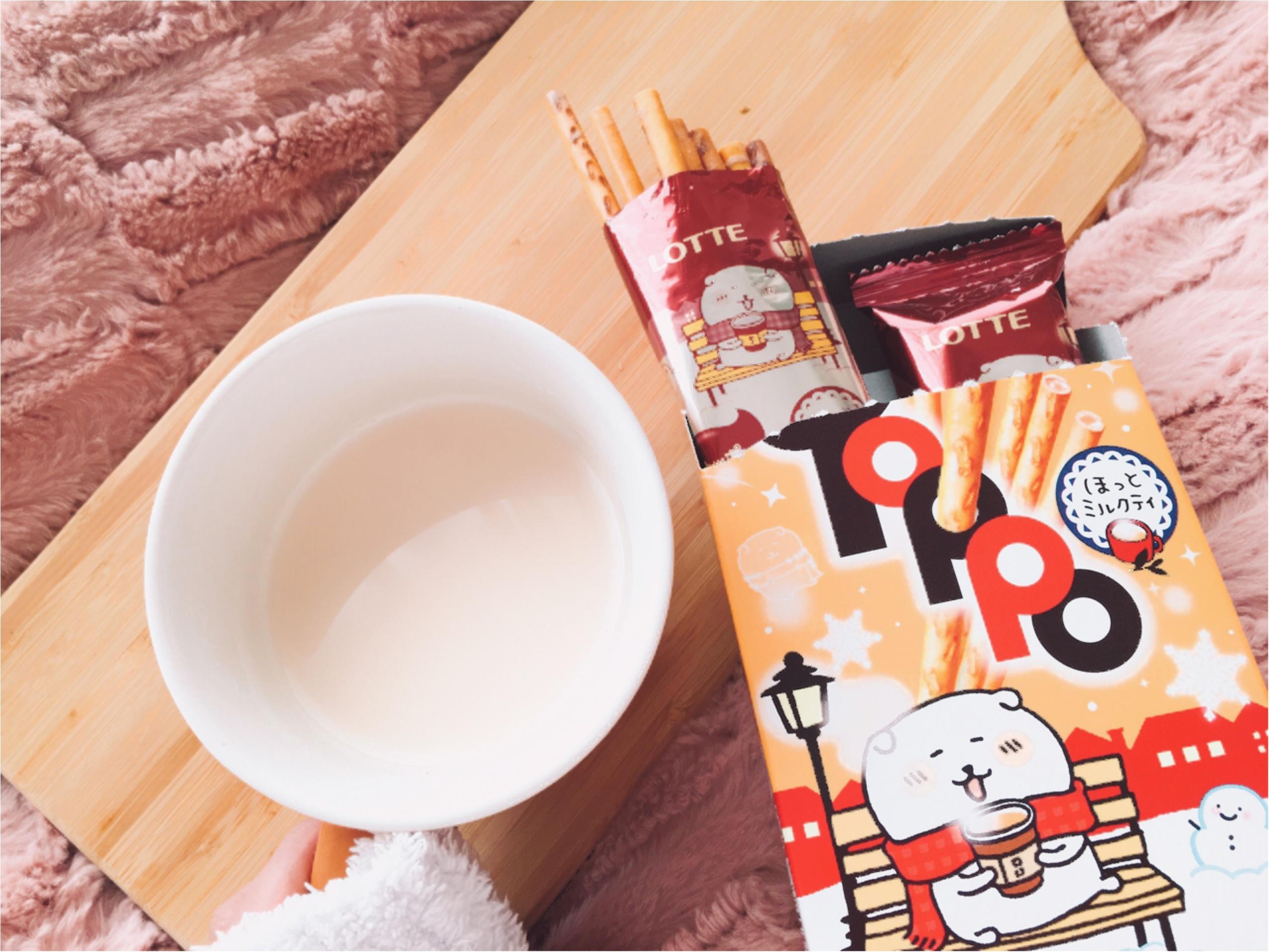 ほっとする【TOPPO(トッポ)】ミルクティー味が新登場♡「自分ツッコミくま」のナガノさんパッケージがかわいい!_4