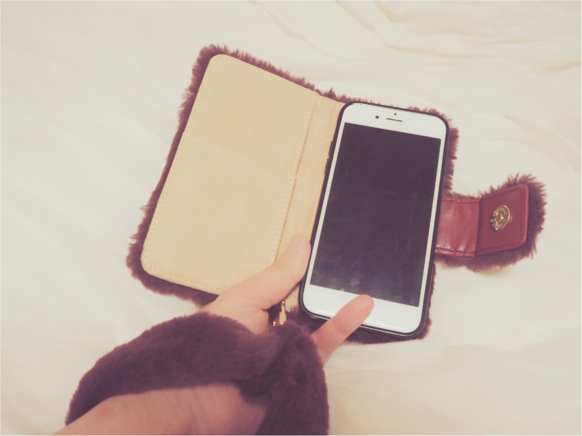 スマホで防寒?なんだか猫っぽいもふもふiPhoneケースを愛用中♡_2