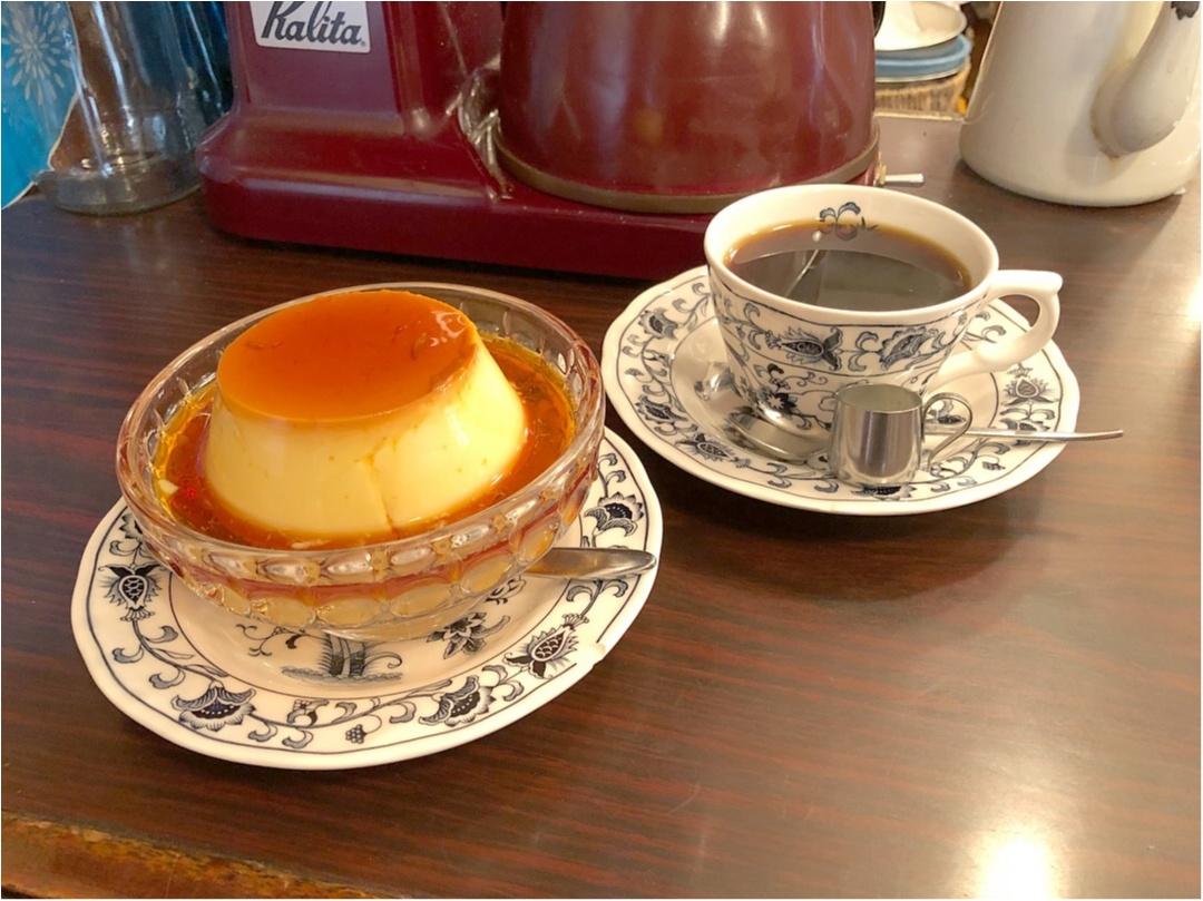 《 東京 》レトロな喫茶店『 ヘッケルン 』で頂く、昔ながらのビッグプリンが絶品♡♡_4