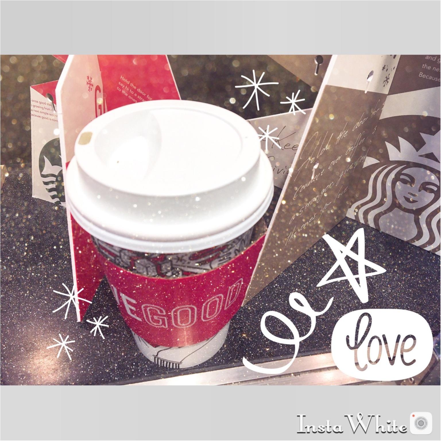 【スタバ】クリスマスまでの限定ドリンク♡抹茶ホワイトマーブルフラペチーノと抹茶ホワイトラテ❤︎_1