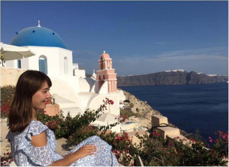 青と白の世界♡憧れのサントリーニ島へ♡_2