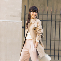 【今日のコーデ/佐藤ありさ】外回りの火曜日は美人なベージュのワントーン!