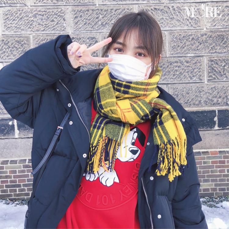 内田理央がこの冬ヘビロテ中なのは、黄色のマフラー♡【モデルのオフショット:お気に入りのファッションアイテム編】
