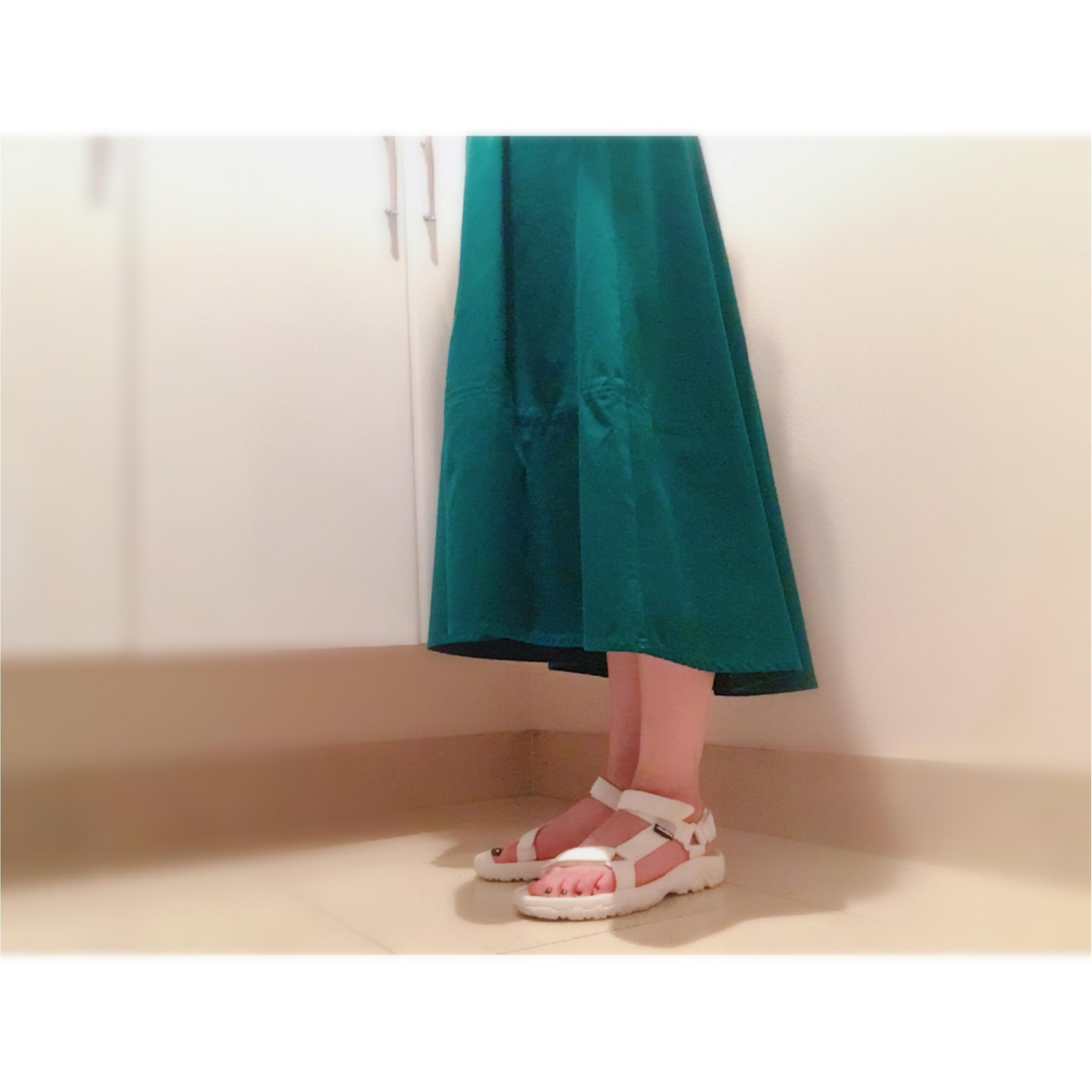 ▷夏から秋まで❤︎【グリーンスカート】でレディなOFFSTYLE_2