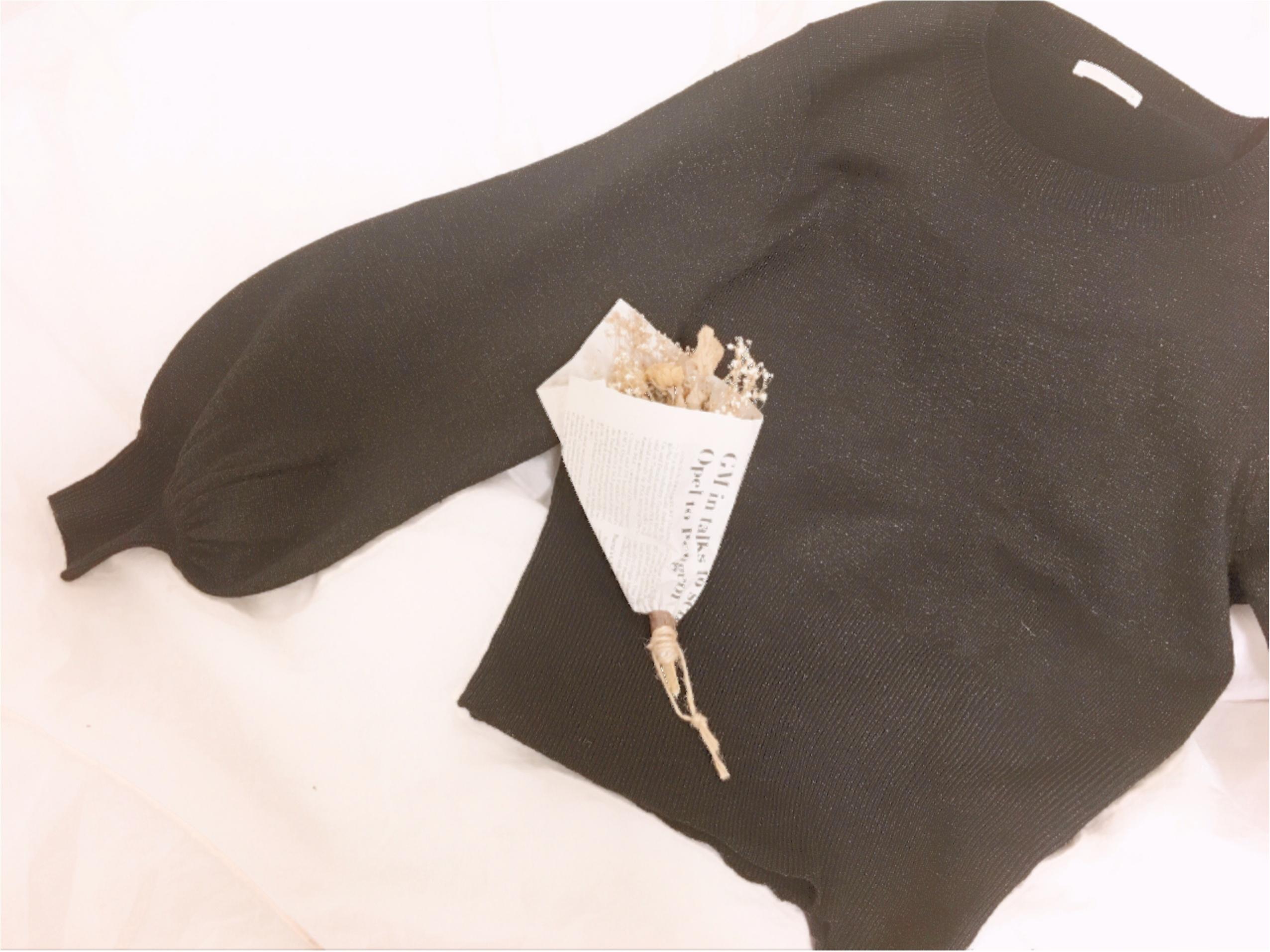 【GU】『ラメパフスリーブセーター』は、あまり取り上げられていない隠れヒット服!_2