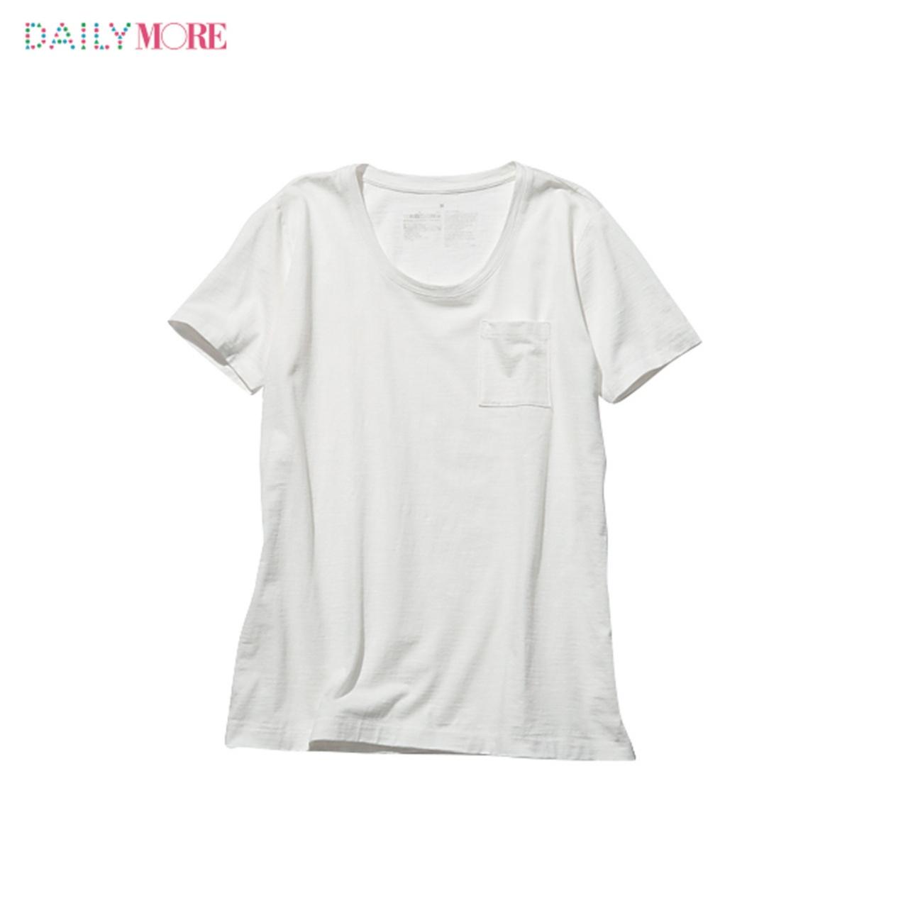 シルエットも素材もこだわりまくりの4タイプ!!【無印良品】の白Tシャツのここがスゴイ!_2_4