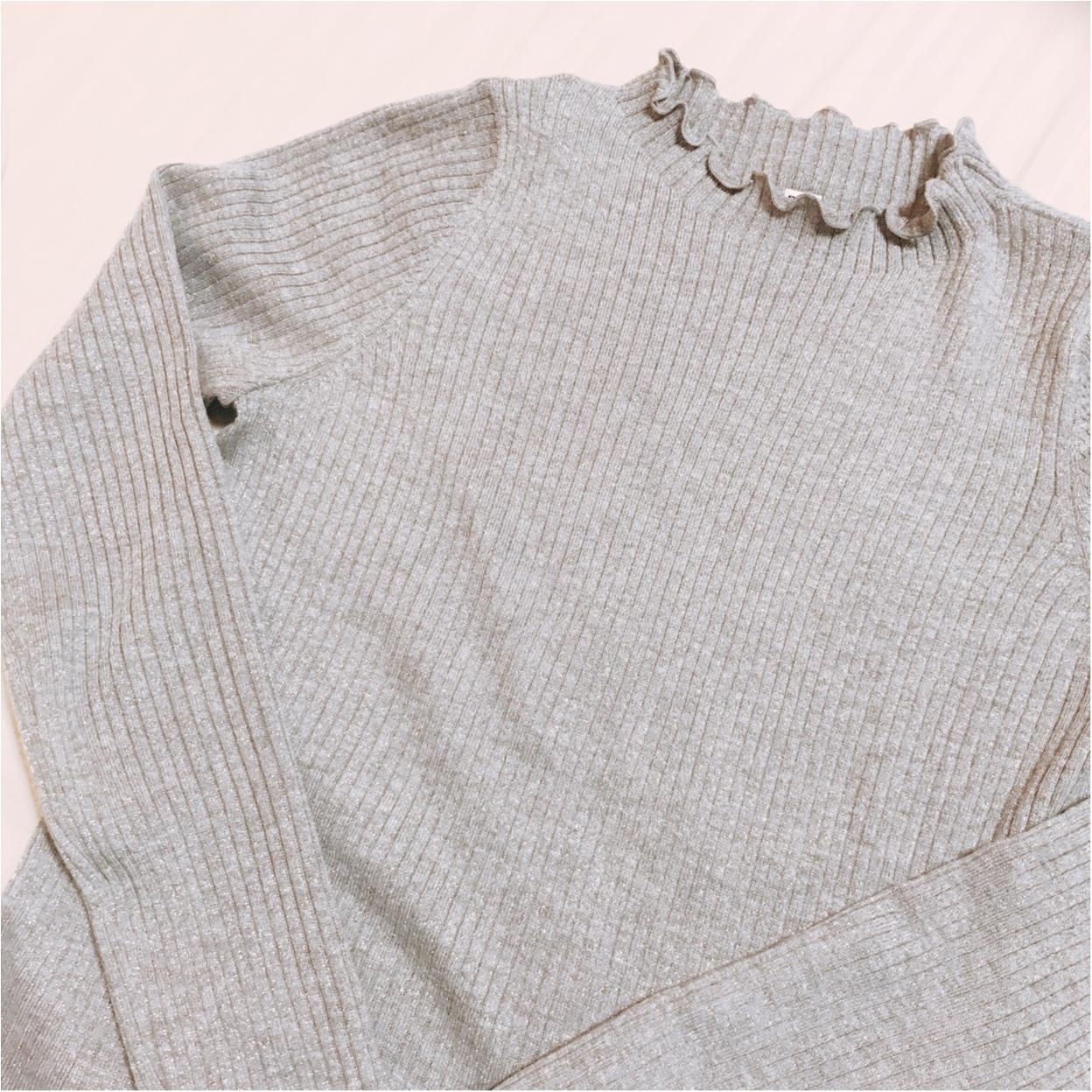 ユニクロ春の新作♡【シャイニーリブフリルネックセーター】が超優秀!!_1