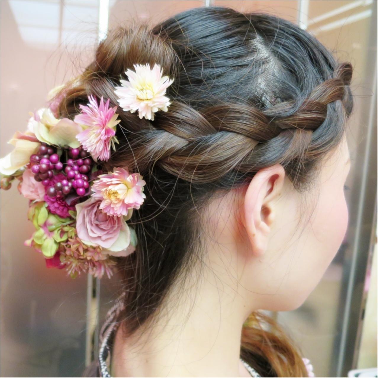 【Wedding】私のヘアスタイル♡ かわいいお花でラプンツェルみたいに♪  結婚式で後悔しないようにしておくべきこと *_1