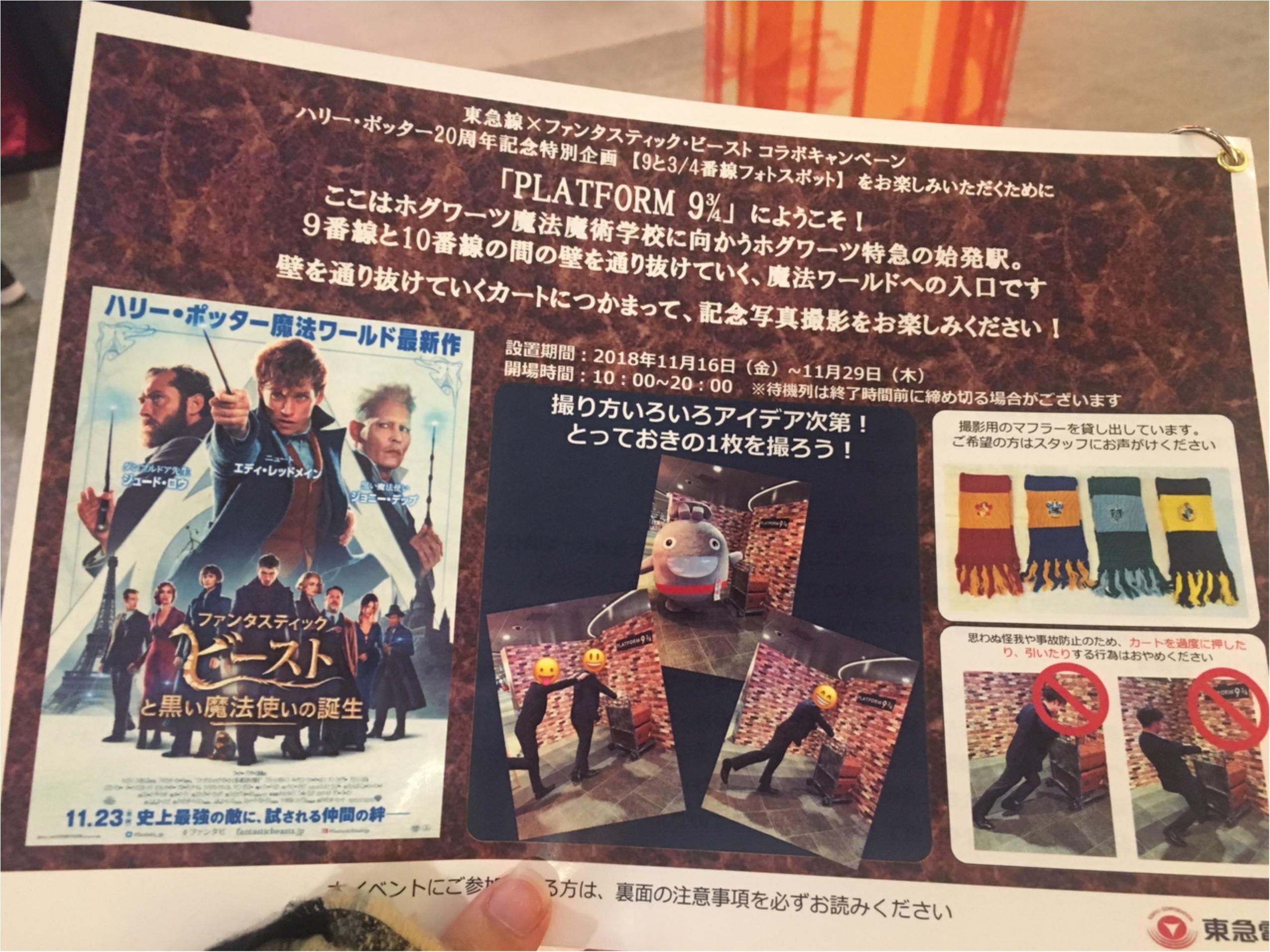 渋谷駅に9と3/4番線!ハリーポッター×ファンタビの魔法界へ_2