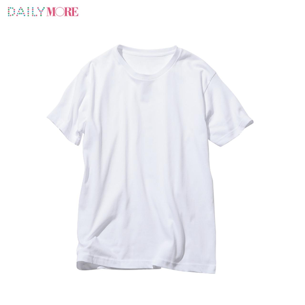 【ユニクロ・GU・しまむら】3大プチプラブランドの「白Tシャツ」、MOREがくらべてみました_2_1