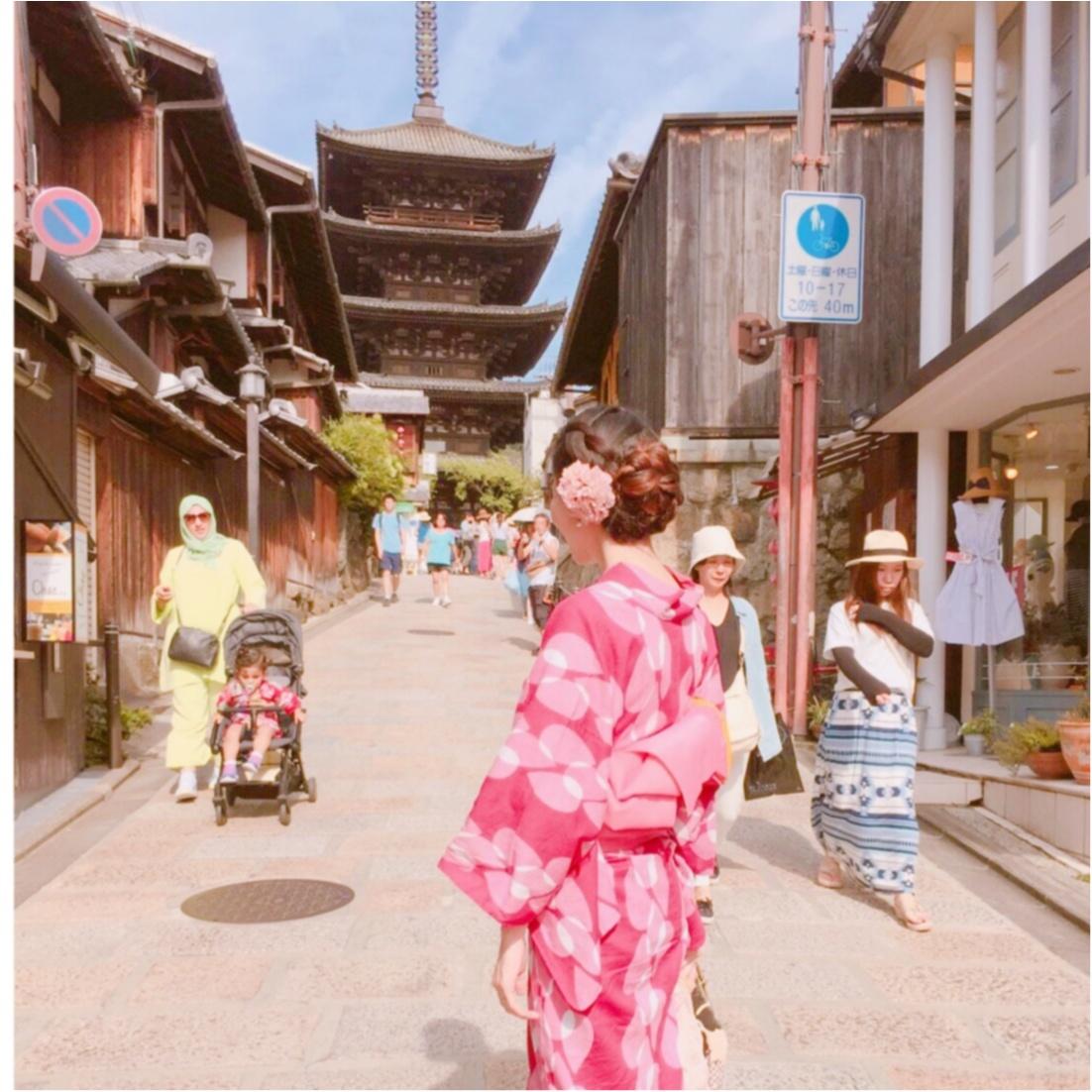 """夏は""""浴衣""""が着たい♡ 京都での思い出づくりにぴったり♪ カワイイのに低価格!?着物レンタルのお店 ♡_5"""