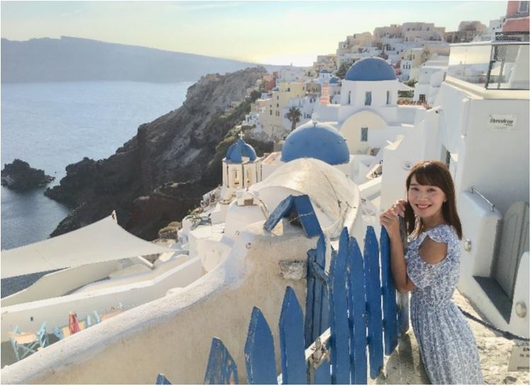 青と白の世界♡憧れのサントリーニ島へ♡_1