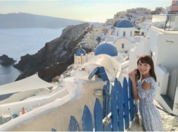 青と白の世界♡憧れのサントリーニ島へ♡