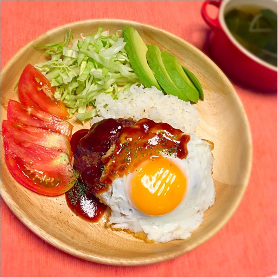 お腹いっぱいロコモコ丼♪_1