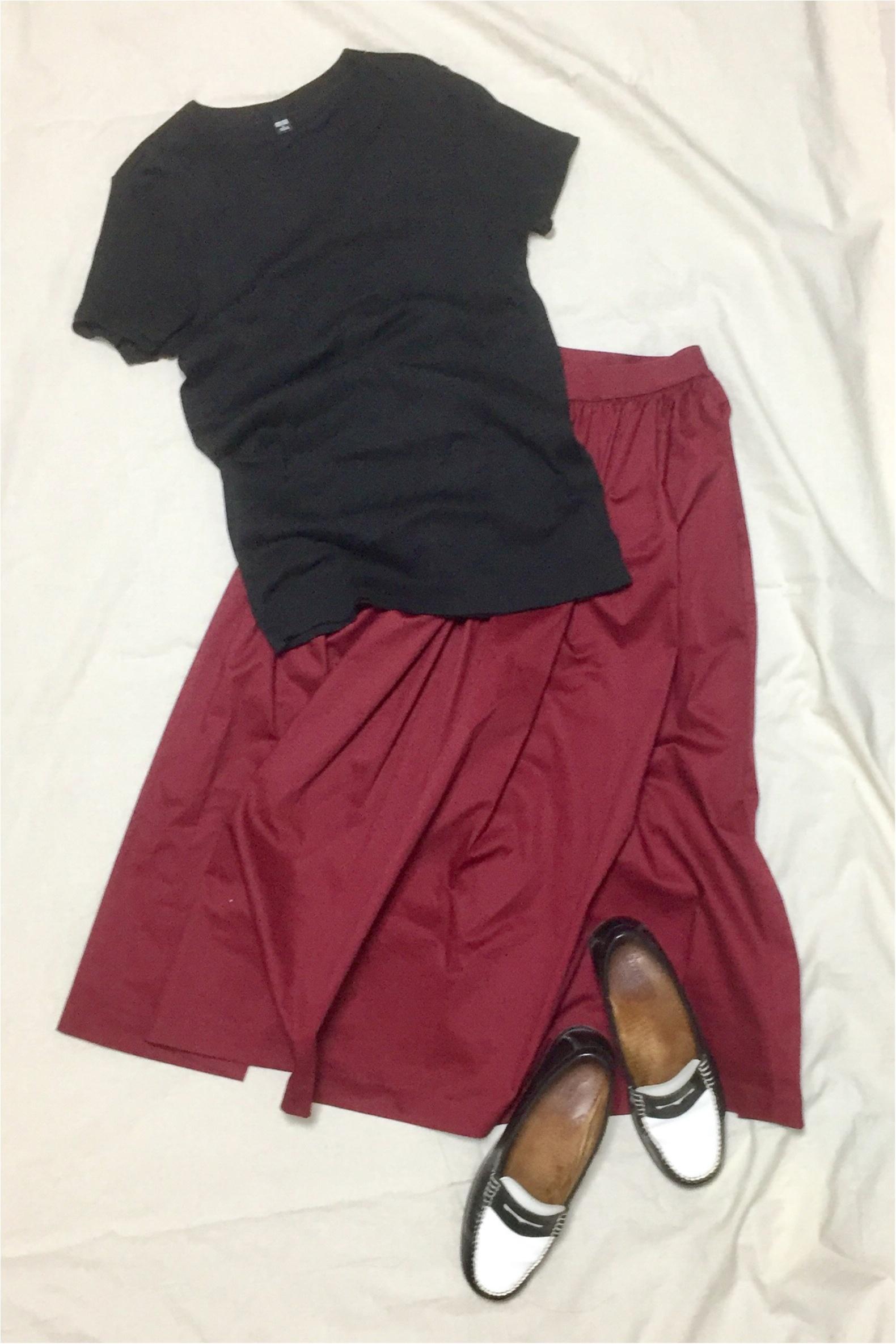 【この夏→秋もUNIQLOが熱い】シンプルなのに可愛い☆ボリュームスカート_4