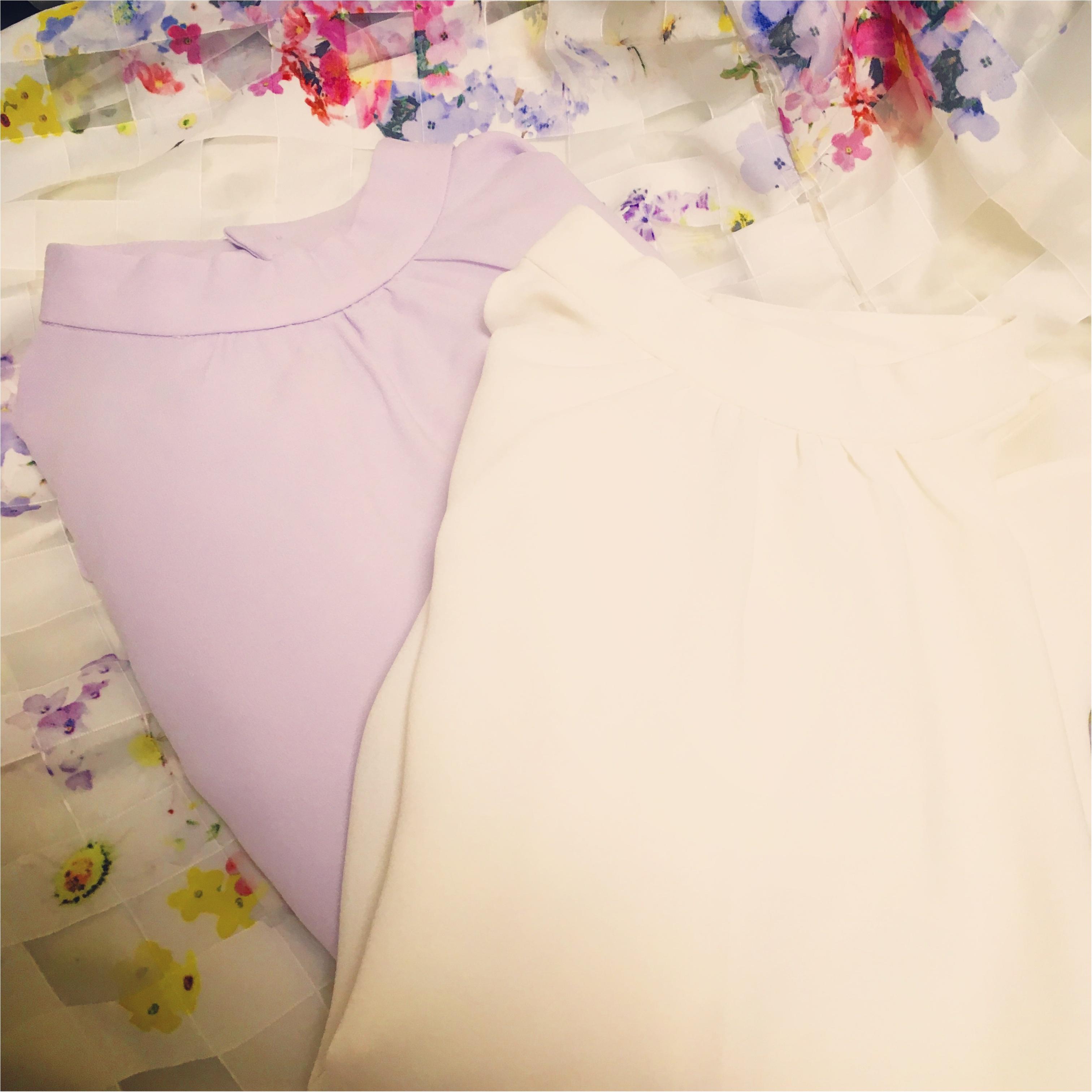 ひさびさの2色買い!♡⦅GU⦆スタンドカラーブラウスがキレイ色&美人見えする♡_1