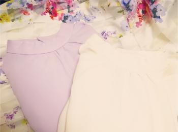ひさびさの2色買い!♡⦅GU⦆スタンドカラーブラウスがキレイ色&美人見えする♡