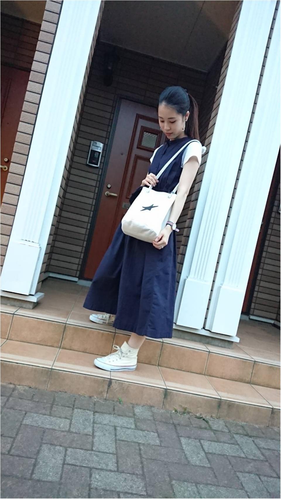 【UNIQLO】クルーネックTシャツと【カーキ】パンツで夏らしく♡_3