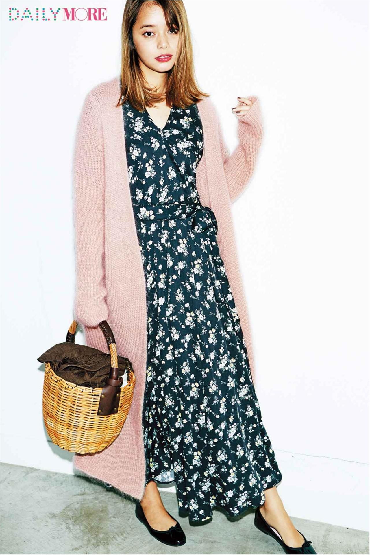 """【この冬、絶対やるべき配色バランス】岸本セシルが着こなす""""黒とピンク""""が超絶かわいい!_2"""