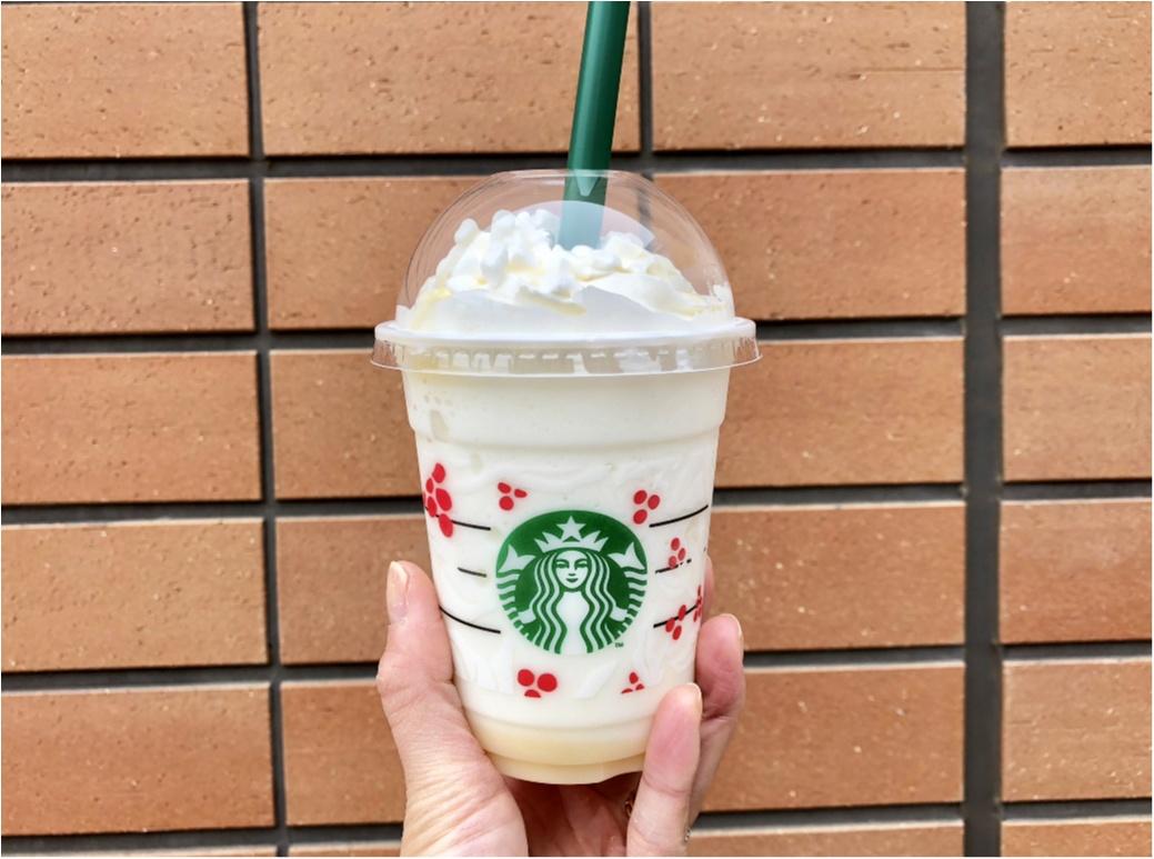 【スタバ】11/22スタート!《ホワイトチョコレートスノーフラペチーノ》ってどんな味?_3